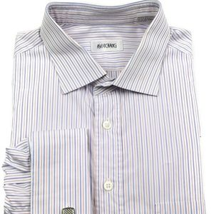 Thomas Mason Ascot Chang French Cuff Shirt Large L